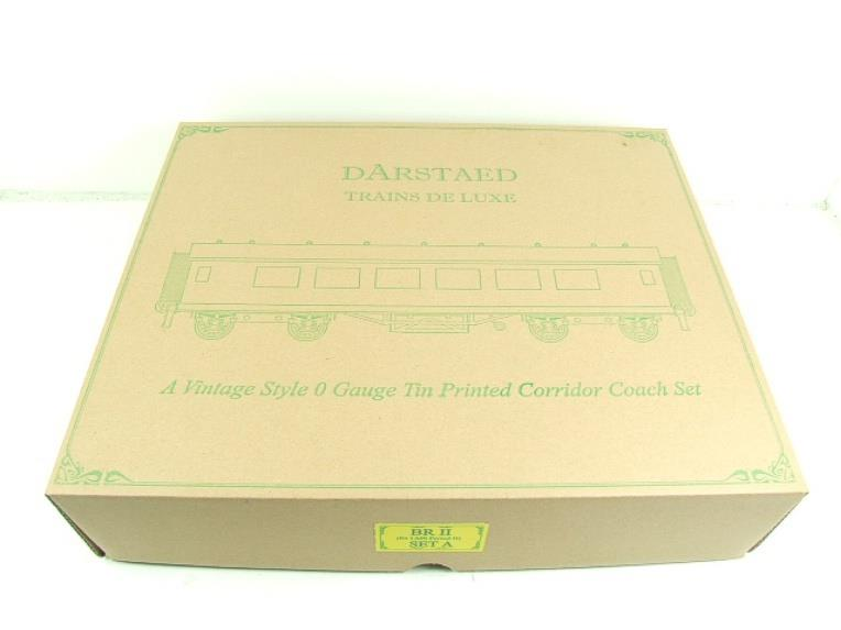 Darstaed O Gauge BR Maroon Period 2 Mainline Coaches x3 Set Bxd 2/3 Rail Set A image 17