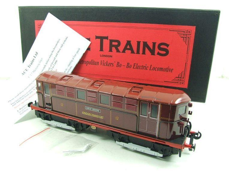 "Ace Trains O Gauge E17 London Transport Red Named ""Sarah Siddons"" Bo Bo Loco No 12 Electric 2/3 Rail image 20"