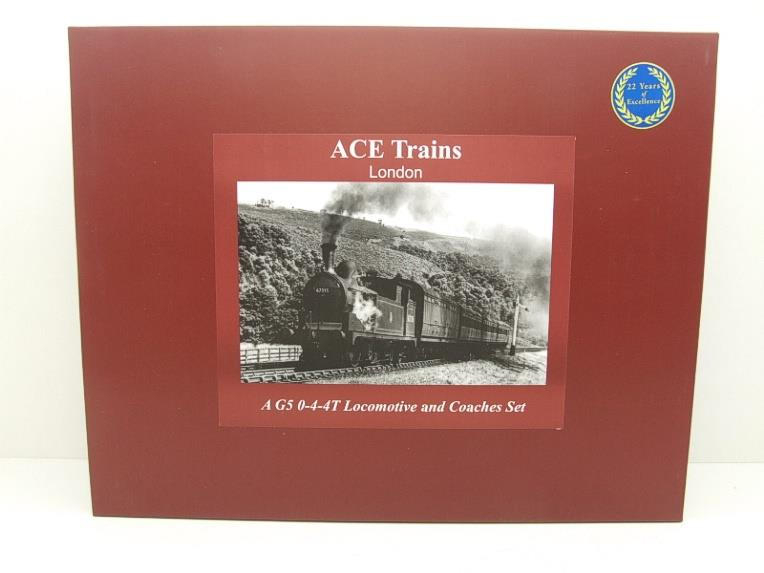 Ace Trains O Gauge E25/S-B1 LNER Black G5 Tank Loco R/N 1882 & Coaches Set Electric 2/3 Rail NEW Bxd image 19