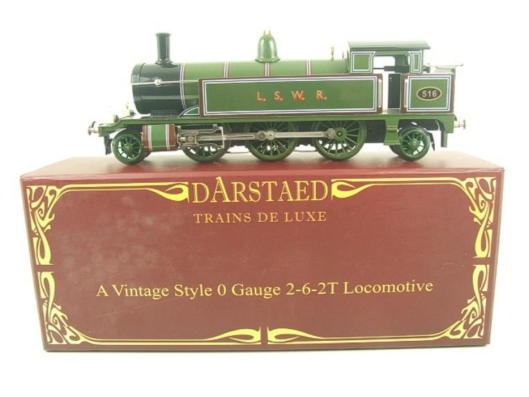 "Darstaed O Gauge ""LSWR"" Green 2-6-2 Tank Loco R/N 516 Electric 3 Rail Boxed image 16"