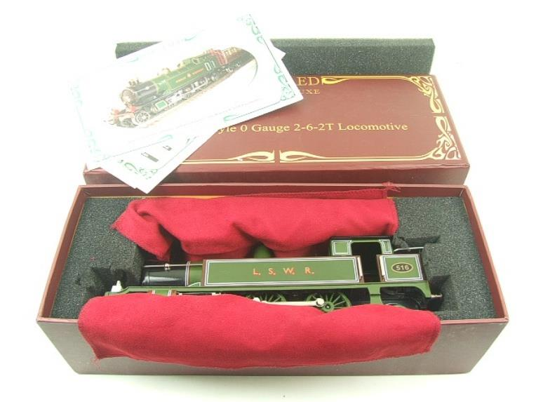 "Darstaed O Gauge ""LSWR"" Green 2-6-2 Tank Loco R/N 516 Electric 3 Rail Boxed image 17"