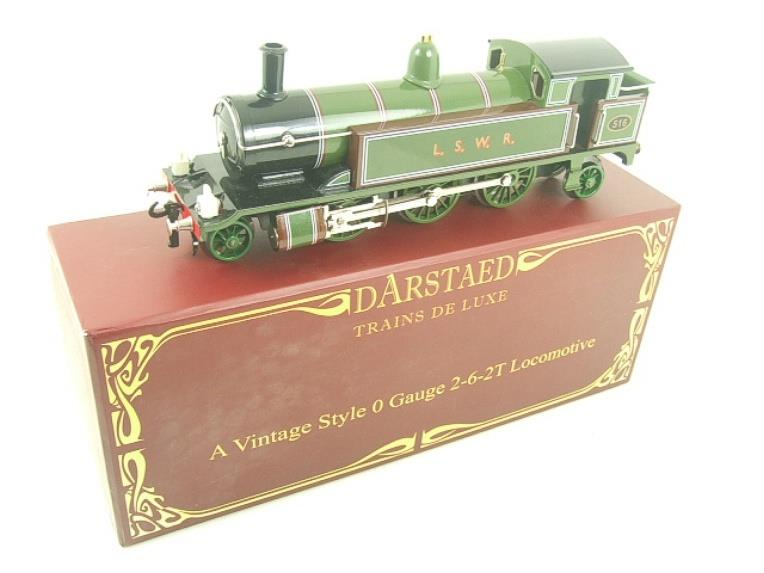 "Darstaed O Gauge ""LSWR"" Green 2-6-2 Tank Loco R/N 516 Electric 3 Rail Boxed image 19"