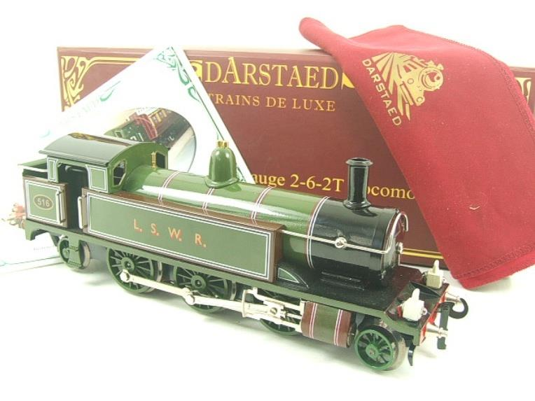 "Darstaed O Gauge ""LSWR"" Green 2-6-2 Tank Loco R/N 516 Electric 3 Rail Boxed image 20"