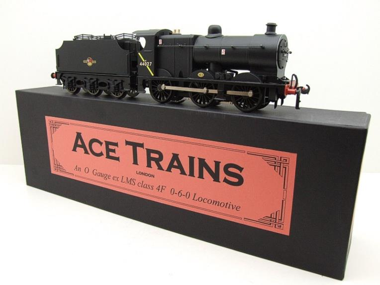 Ace Trains O Gauge E5H Fowler 4F Class 0-6-0 Loco and Tender R/N 44027 BR Post 57 Logo Satin Black image 18