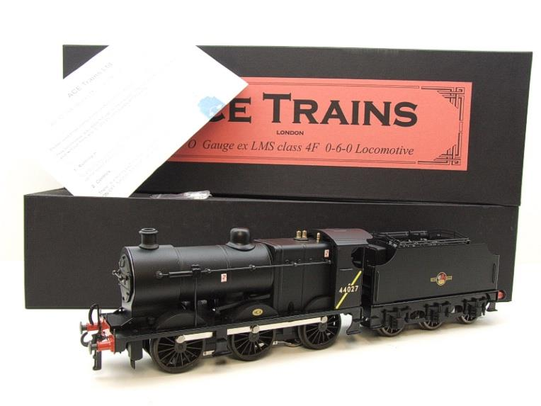 Ace Trains O Gauge E5H Fowler 4F Class 0-6-0 Loco and Tender R/N 44027 BR Post 57 Logo Satin Black image 22