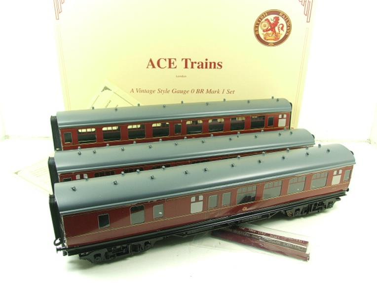 Ace Trains O Gauge C13B BR MK1 MR Coaches x3 Set B Boxed 2/3 Rail image 20