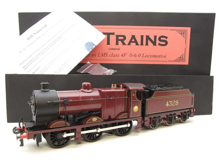 Ace Trains O Gauge E5A1 Fowler 4F Class 0-6-0 Loco and Tender R/N 4328 LMS Gloss Maroon Lined image 20