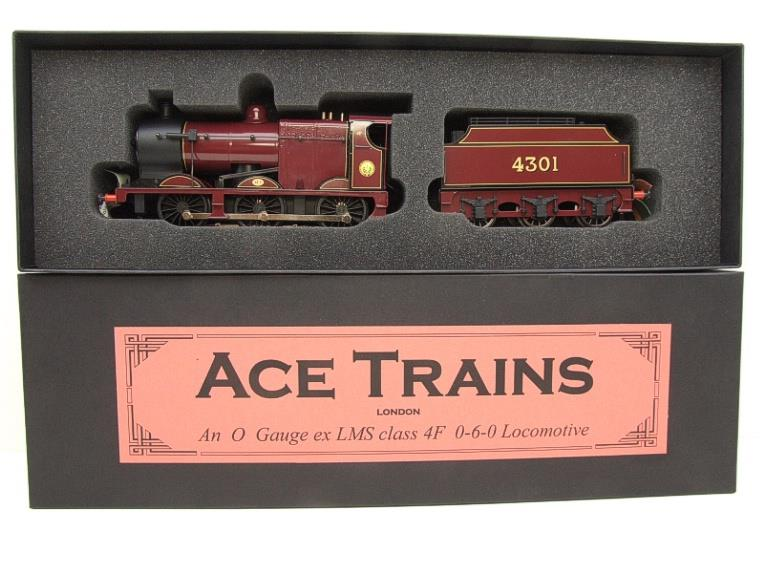 Ace Trains O Gauge E5A2 Fowler 4F Class 0-6-0 Loco and Tender R/N 4301 LMS Gloss Maroon Lined image 18