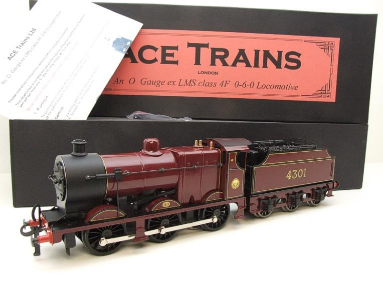 Ace Trains O Gauge E5A2 Fowler 4F Class 0-6-0 Loco and Tender R/N 4301 LMS Gloss Maroon Lined image 20