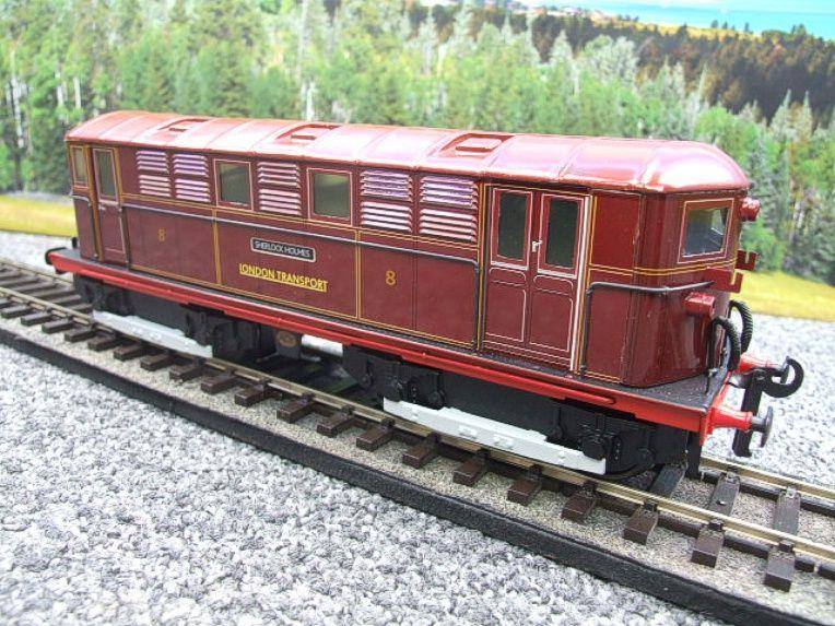 "Ace Trains O Gauge E17 London Transport Red Vickers Bo-Bo ""Sherlock Holmes"" Loco No 8 image 11"