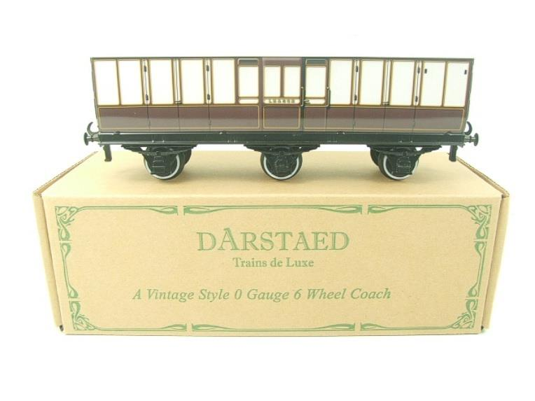 "Darstaed O Gauge ""LBSCR"" Six Wheel Full Brake Coach Boxed image 12"