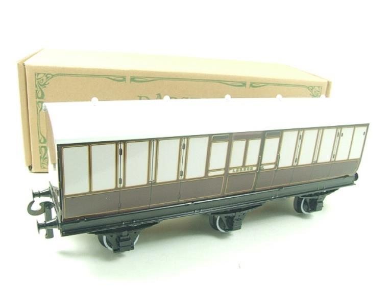 "Darstaed O Gauge ""LBSCR"" Six Wheel Full Brake Coach Boxed image 13"