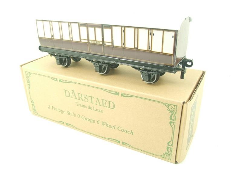 "Darstaed O Gauge ""LBSCR"" Six Wheel Full Brake Coach Boxed image 14"