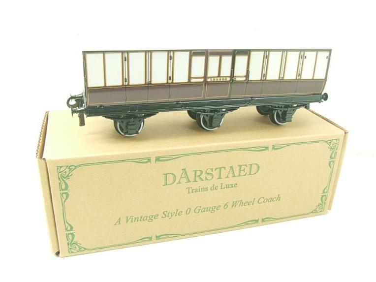 "Darstaed O Gauge ""LBSCR"" Six Wheel Full Brake Coach Boxed image 15"