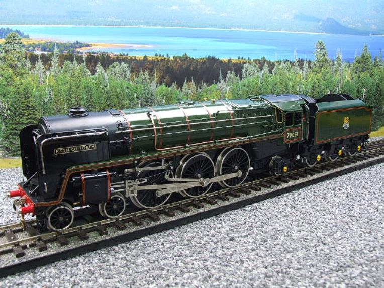 "Ace Trains O Gauge E27L BR Britannia Class ""Firth of Forth"" RN 70051 Electric 2/3 Rail Boxed image 13"