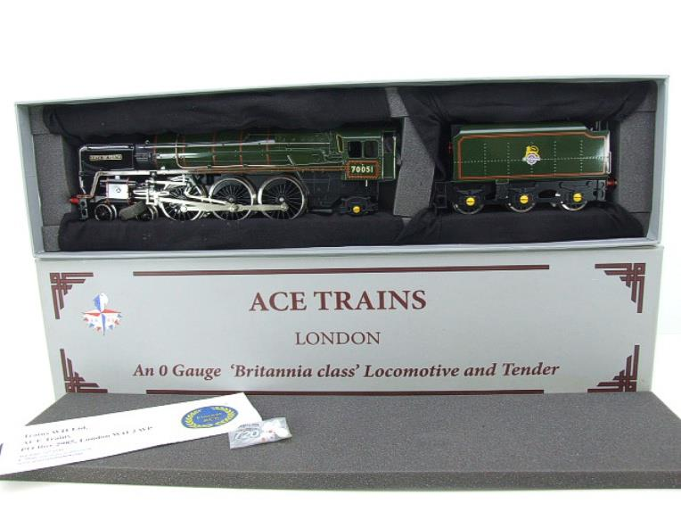 "Ace Trains O Gauge E27L BR Britannia Class ""Firth of Forth"" RN 70051 Electric 2/3 Rail Boxed image 21"