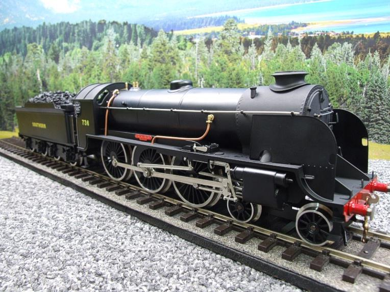 "ACE Trains O Gauge E/34-D1 Bulleid SR Wartime Satin Black 4-6-0 ""Excalibur"" 736 Elec 2/3 Rail image 12"