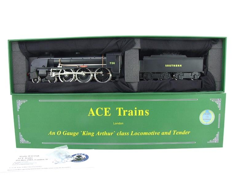 "ACE Trains O Gauge E/34-D1 Bulleid SR Wartime Satin Black 4-6-0 ""Excalibur"" 736 Elec 2/3 Rail image 21"