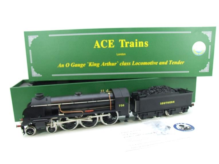 "ACE Trains O Gauge E/34-D1 Bulleid SR Wartime Satin Black 4-6-0 ""Excalibur"" 736 Elec 2/3 Rail image 22"