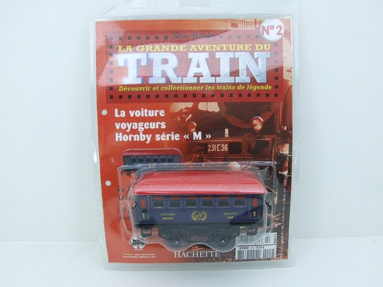 "Hornby Hachette Series French O Gauge No.2 Blue Red Roof Voiture ""Saloon"" 1st Class Coach NEW Pack image 15"