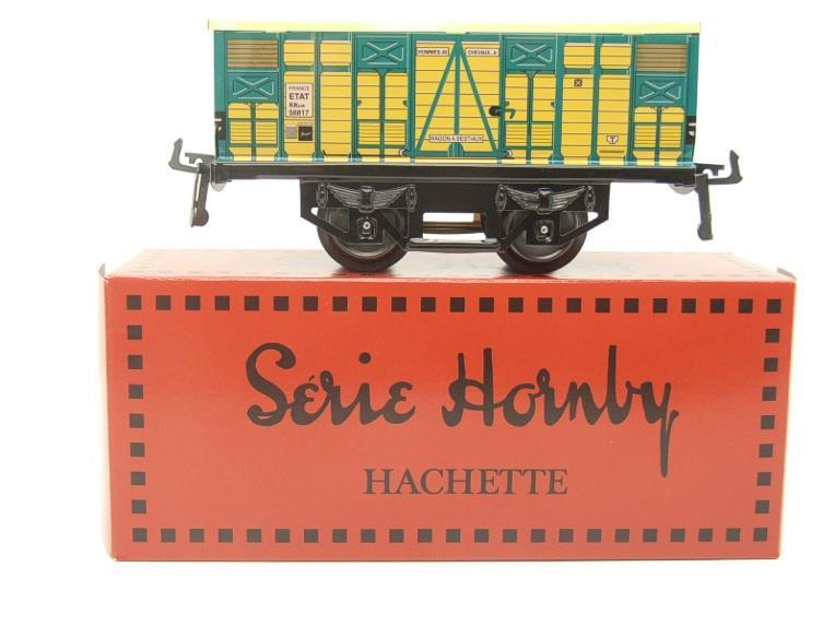 "Hornby Hachette Series French O Gauge No.4 ""ETAT"" Bestiaux Cattle Wagon NEW Pack image 11"