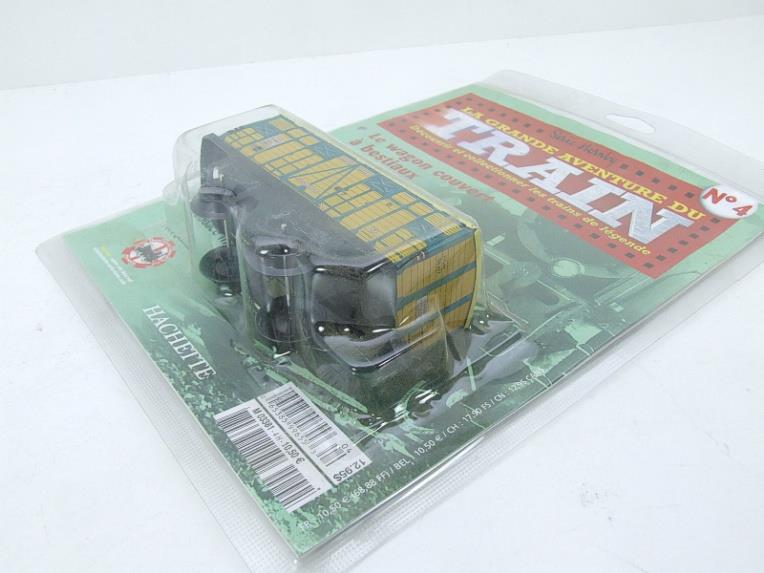 "Hornby Hachette Series French O Gauge No.4 ""ETAT"" Bestiaux Cattle Wagon NEW Pack image 13"