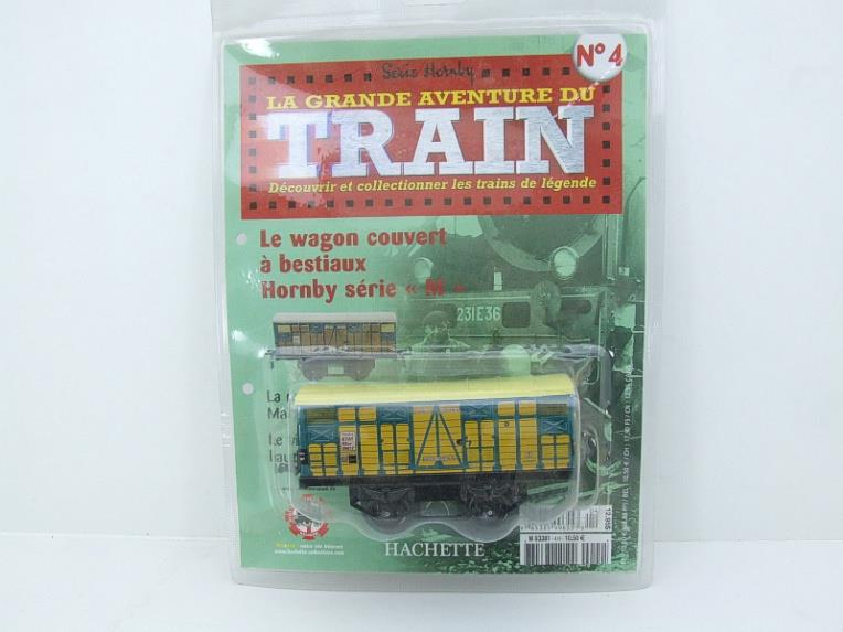 "Hornby Hachette Series French O Gauge No.4 ""ETAT"" Bestiaux Cattle Wagon NEW Pack image 15"