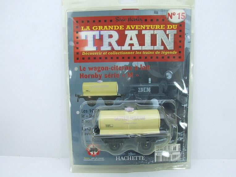 "Hornby Hachette Series French O Gauge No.15 Nord ""Laiterie Moderne"" White Tanker Wagon NEW Pack image 15"