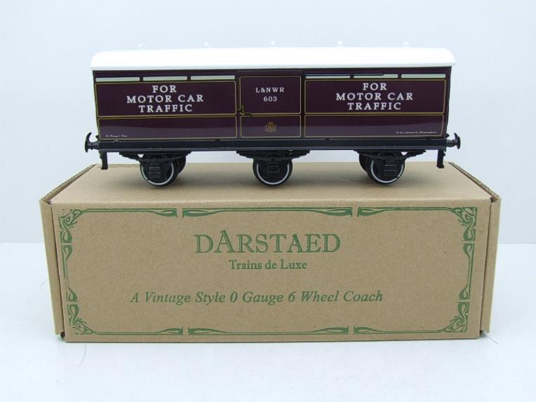Darstaed O Gauge LNWR Six Wheel Motor Car Van R/N 603 Boxed 2/3 Rail Running image 15