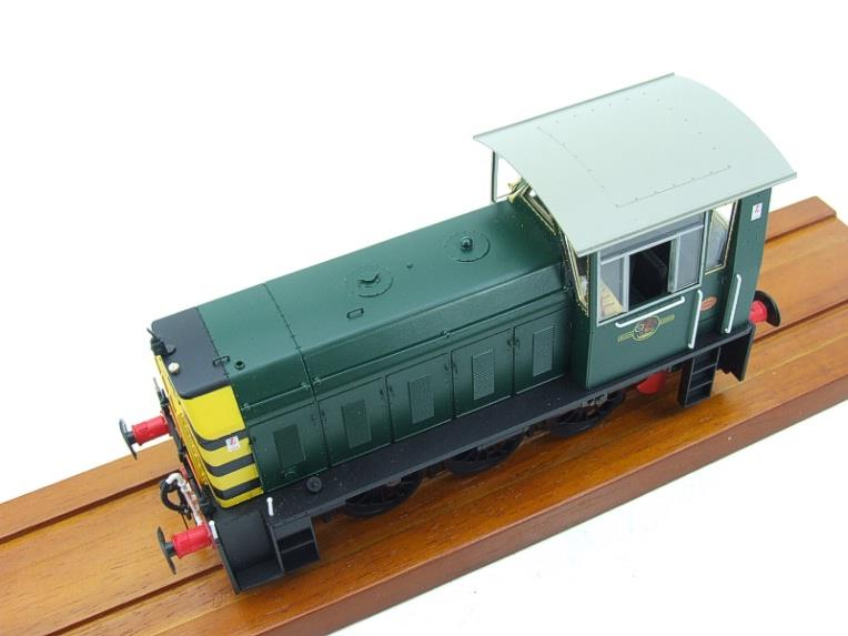 "HelJan O Gauge 25911 Class 05 BR Green With ""Wasp"" Stripes"" Diesel Shunter Loco Electric 2 Rail Bxd image 11"