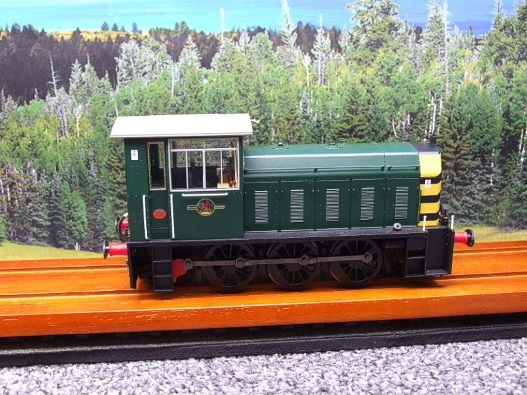 "HelJan O Gauge 25911 Class 05 BR Green With ""Wasp"" Stripes"" Diesel Shunter Loco Electric 2 Rail Bxd image 16"