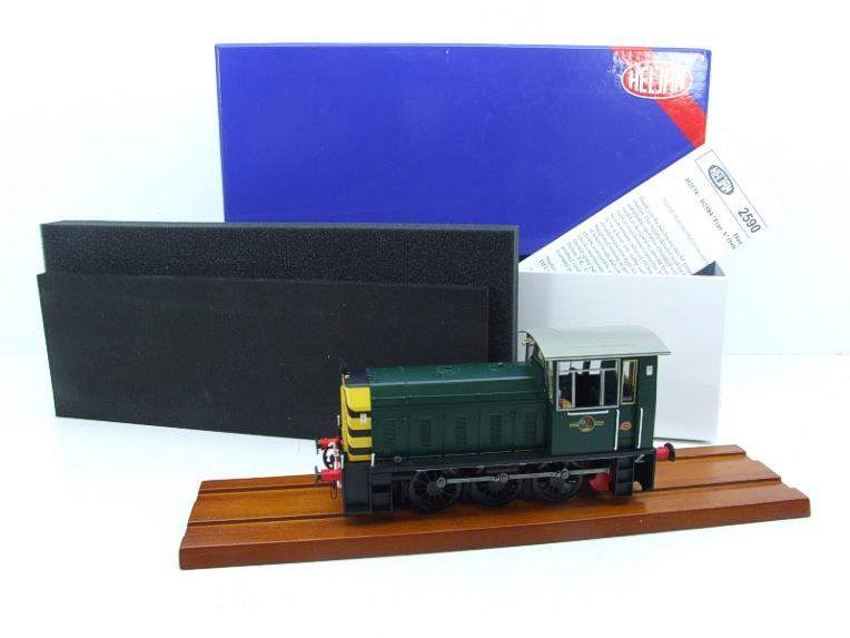 "HelJan O Gauge 25911 Class 05 BR Green With ""Wasp"" Stripes"" Diesel Shunter Loco Electric 2 Rail Bxd image 19"
