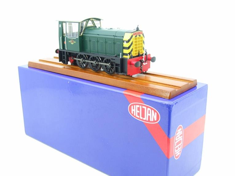 "HelJan O Gauge 25911 Class 05 BR Green With ""Wasp"" Stripes"" Diesel Shunter Loco Electric 2 Rail Bxd image 21"