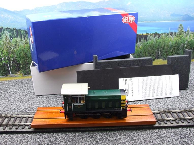 "HelJan O Gauge 25911 Class 05 BR Green With ""Wasp"" Stripes"" Diesel Shunter Loco Electric 2 Rail Bxd image 22"