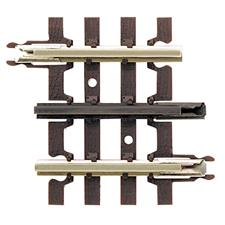 "Atlas 6052 - O Gauge AL6052 3 Rail Code 215 Straight Track 44.45mm, 1-3/4"", Pack of x4 image 1"