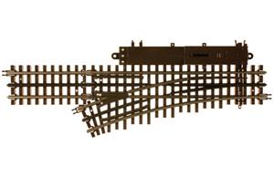 "Atlas 6070 - O Gauge 3 Rail O-54 Left Hand Remote Turnout 27"" Radius Electric Operated Point x1 image 1"