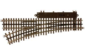 "Atlas 6072 - O Gauge 3 Rail O-54 Left Hand Remote Turnout 36"" Radius Electric Operated Point x1 image 1"
