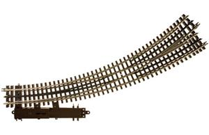 "Atlas 6077 - O Gauge 3 Rail O-72/O-54 Left Hand Curved R/Turnout 36""/27"" Radius Elec Op Point x1 image 1"