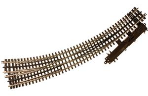 "Atlas 6078 - O Gauge 3 Rail O-72/O-54 Right Hand Curved R/Turnout 36""/27"" Radius Elec Op Point x1 image 1"