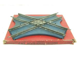 Hornby O Gauge CA2 Acute Angle Crossing Blue Base Edition Clockwork Track Boxed image 1