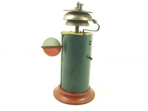 Marklin Similar Large Vintage Tinplate Warning Station Bell 150mm Height image 6