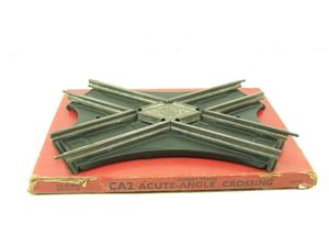 Hornby O Gauge CA2 Acute Angle Crossing Clockwork 2 Rail Track Boxed image 1