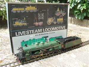 Gauge 1 Aster PLM 231A Pacific 4-6-2 Loco & Tender RN 6101 Live Steam Bxd image 1