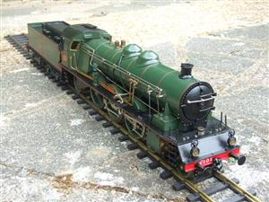 Gauge 1 Aster PLM 231A Pacific 4-6-2 Loco & Tender RN 6101 Live Steam Bxd image 2