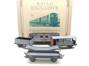 Raylo O Gauge RE11 Metro Vickers Bo-Bo Locotive London Transport Goods Set Electric 3 Rail Boxed image 1