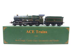"Ace Trains O Gauge E7 BR Castle Class ""Warwick Castle"" R/N 4081 Electric 3 Rail Boxed image 1"
