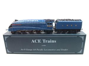 "Ace Trains O Gauge E4 A4 Pacific LNER Blue ""Golden Plover"" R/N 4497 Electric 3 Rail Boxed image 1"