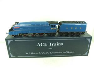 "Ace Trains O Gauge A4 Pacific LNER Garter Blue ""Kingfisher"" RN 4483 Electric Bxd image 1"