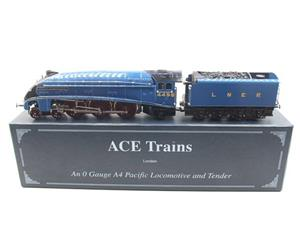 "Ace Trains O Gauge E4 A4 Pacific LNER Blue ""Dwight D Eisenhower"" R/N 4496 Elec 3 Rail Boxed image 1"