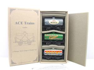 Ace Trains O Gauge G1 Four Wheel Mixed Fuel Tankers x3 Set image 1